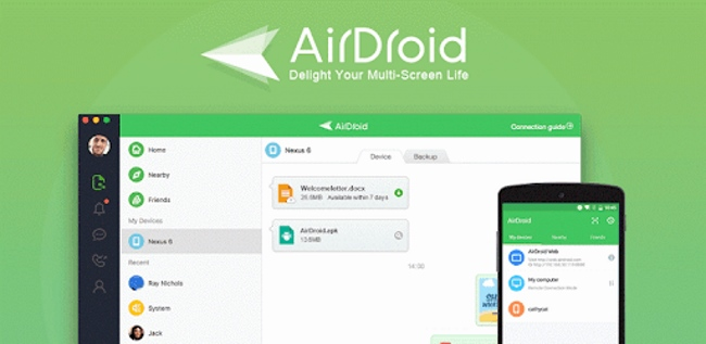 AirDroid Android Apps to Transfer Files