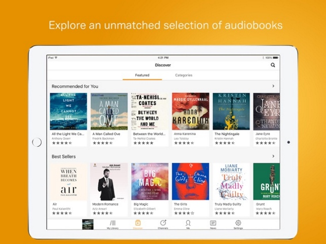 Audible is a bible app