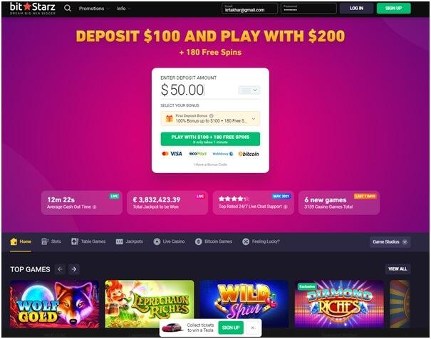 Bitstarz - Cash to Code casino