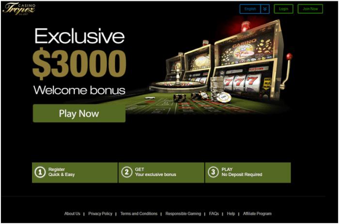 Tropez Casino Mobile