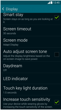 Display- Settings-Samsung