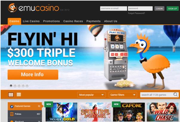 Emu Casino- Samsung pokies