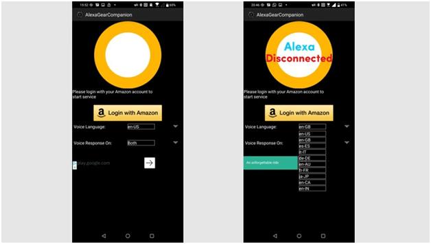 Installing Alexa Gear App