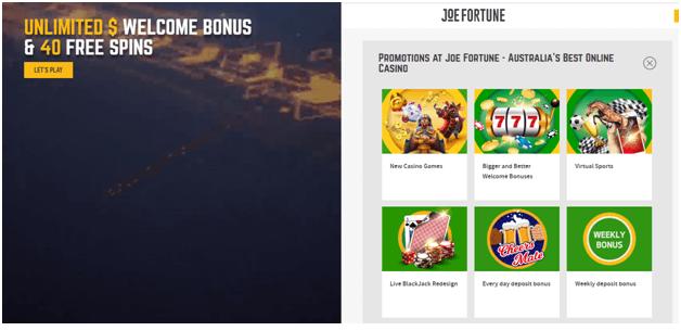 Joe Fortune casino app