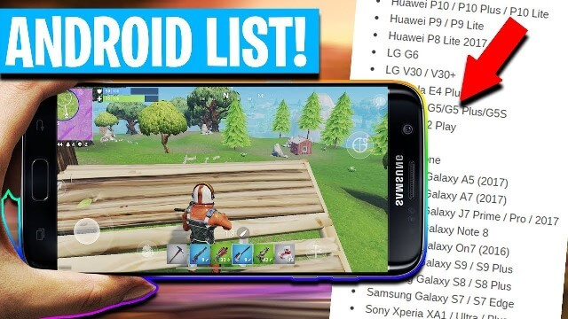download fortnite mobile for all android devices