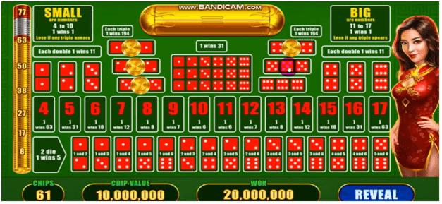 Playing Sic Bo at Slotomania casino app