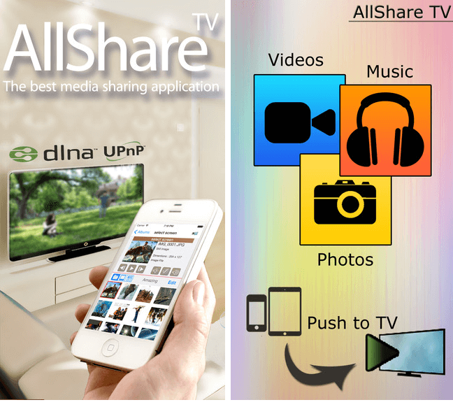 Samsung All Share iPhone App