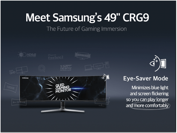 Samsung- Best Gaming Monitor Eye saver mode
