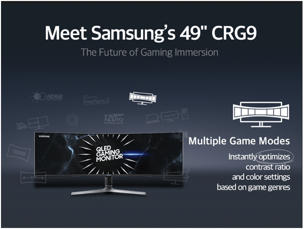 Samsung- Best Gaming Monitor Multiple game modes
