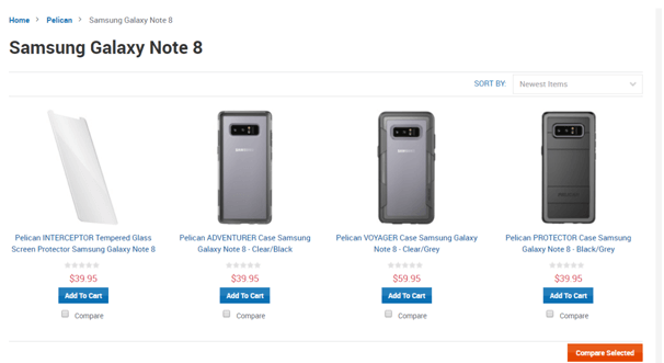 Samsung Galaxy Note 8- Pelican