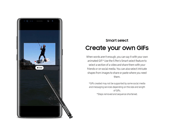 Samsung Galaxy Note 8 Animated GIF