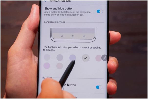 Samsung Galaxy Note 8 Navigation buttons