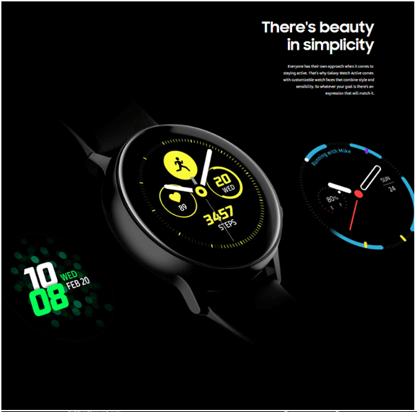 Samsung Galaxy Watch Active- Features