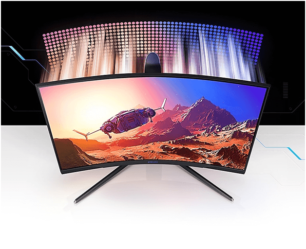 Samsung Odyssey G7 and G7 curved gaming monitors features