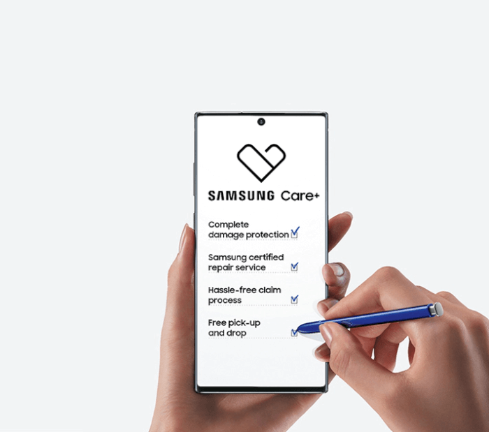 Samsung care features
