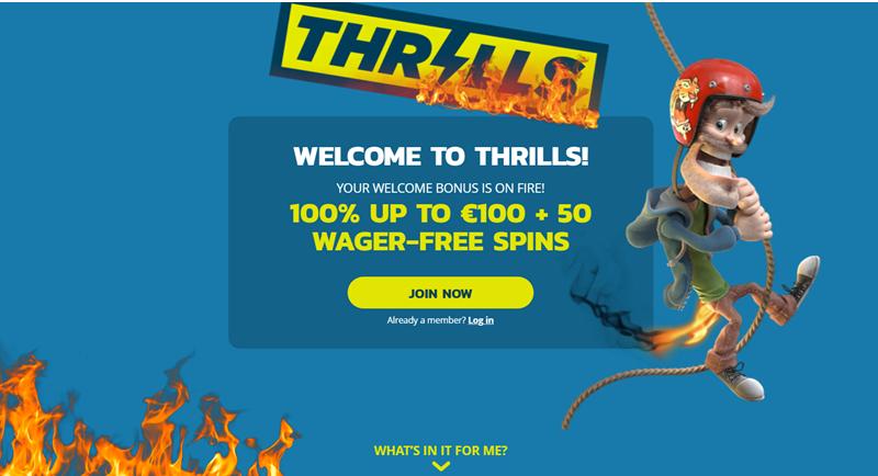 Thrills casino app pokies