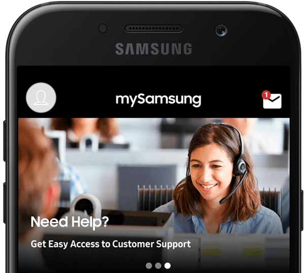 mySamsung App- Customer support