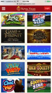 Royal Vegas App Mobile