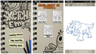 sketch them