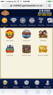 Spin Palace App for Android