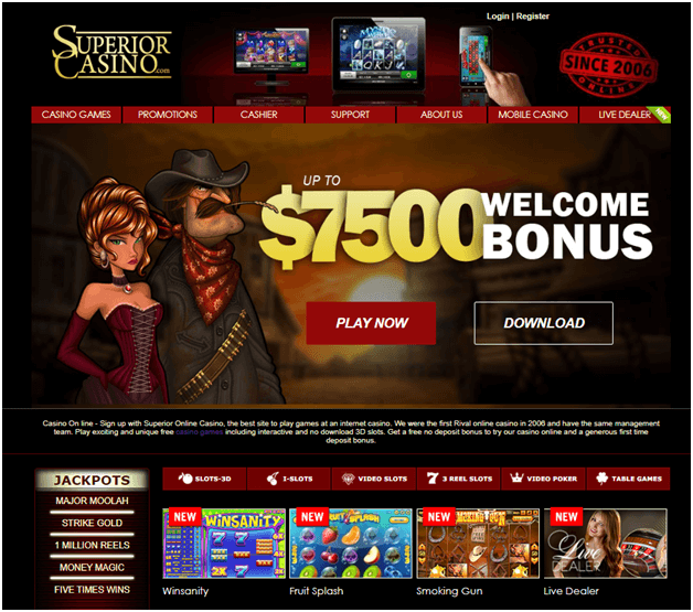 superior casino new bonus