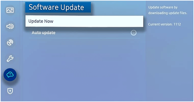 update the firmware on a Samsung TV